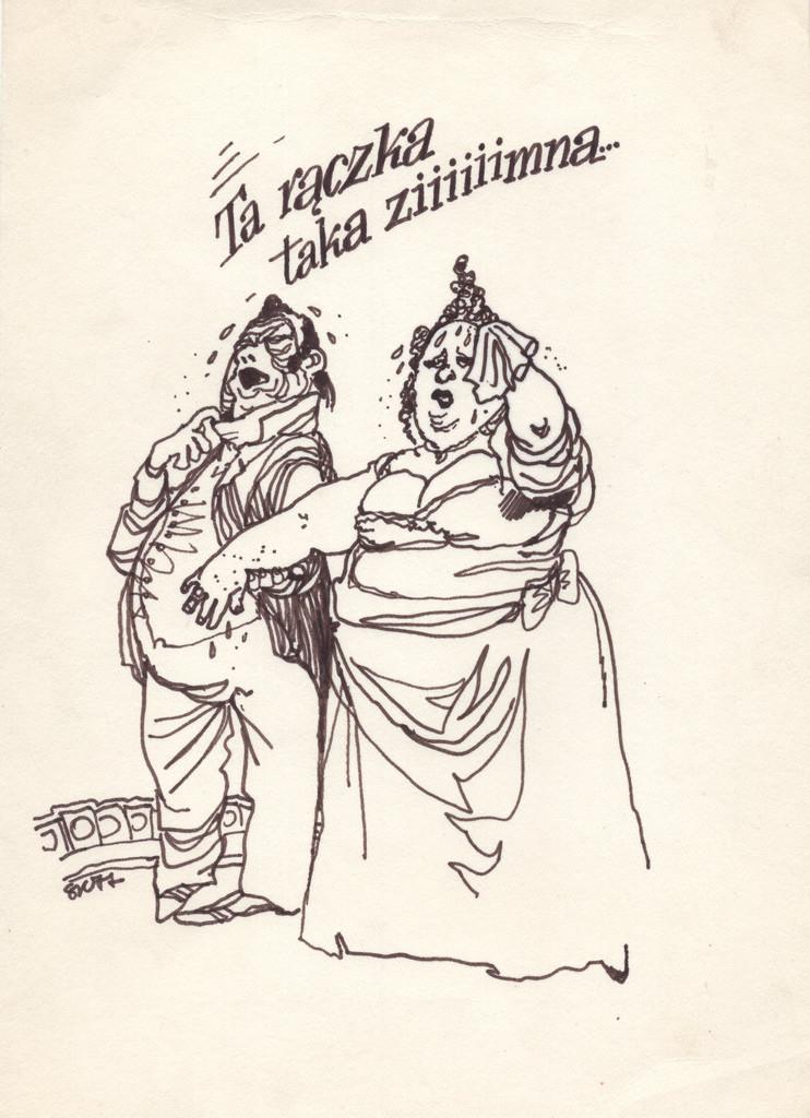 Pierwsze karykatury Szymon Kobyliński zaczął tworzyć w wieku 9 lat. Później rysunek i pisanie stały się jego sposobami na życie, źródło: antykwariatwaw.pl