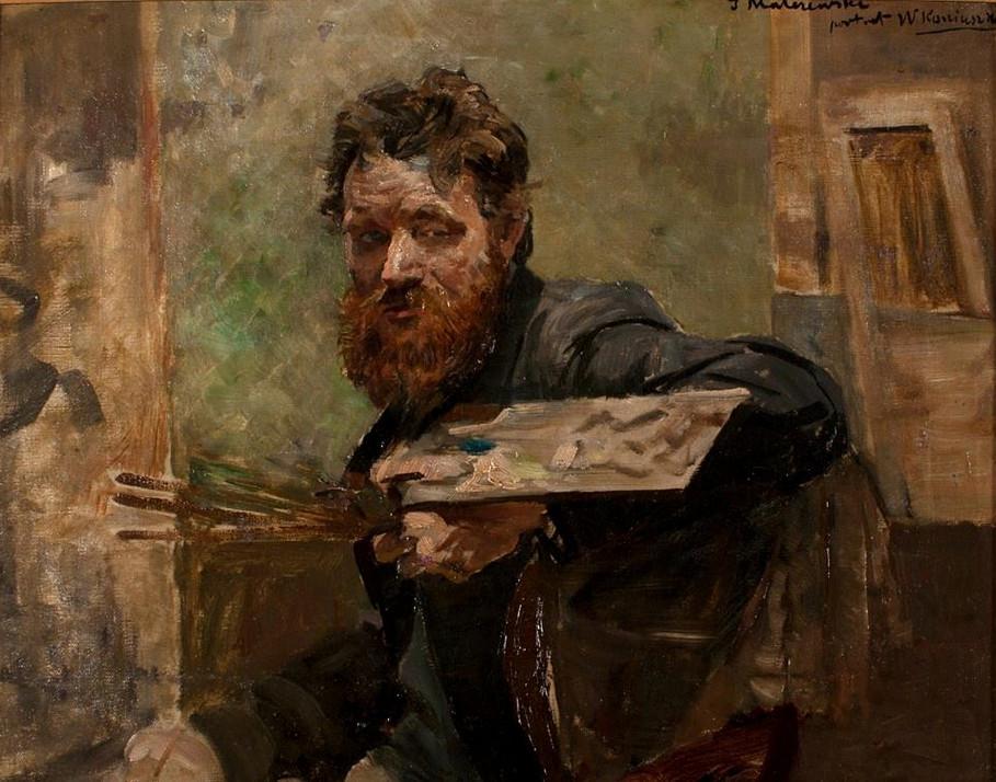 """Jacek Malczewski (1854-1929) """"Portret Wacława Koniuszki"""", ok. 1896 roku, źródło: własność prywatna"""