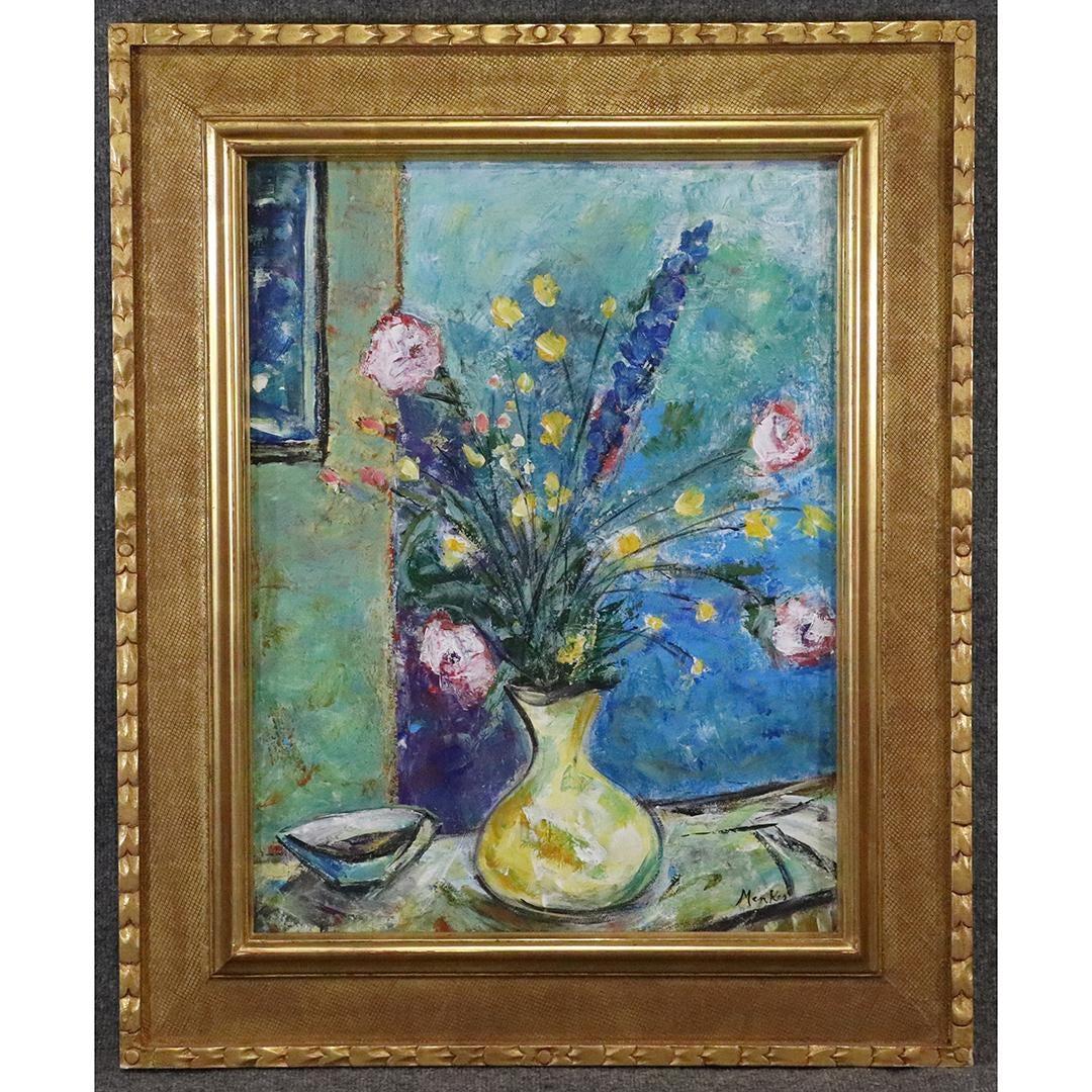 """Zygmunt Menkes (1896-1986) """"Kwiaty w wazonie"""", źródło: Donny Malone Auctions"""