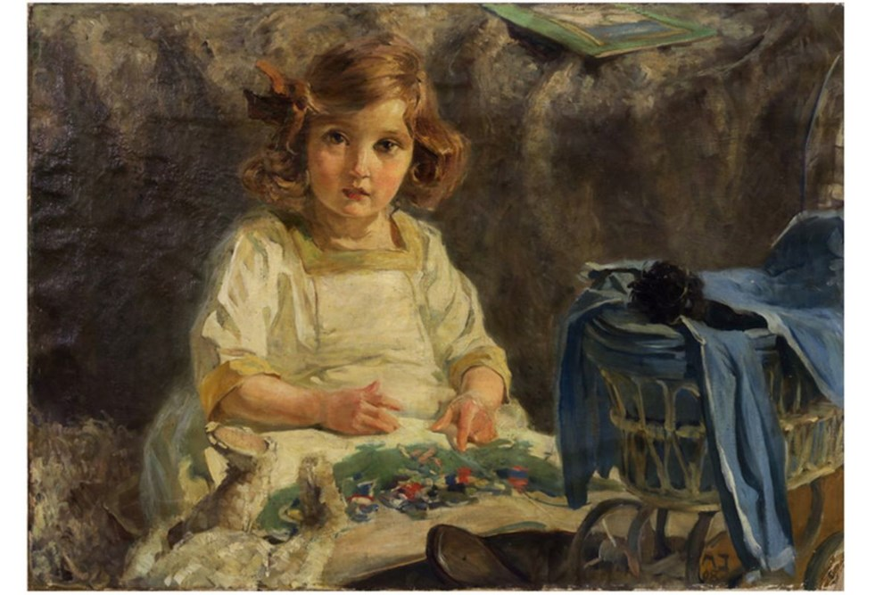 """Mela Muter (1876-1967) i Władysław Jahl (1886-1953) """"Dziewczynka"""", źródło: Ghent"""