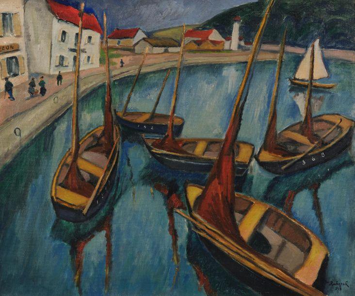 "Jan Rubczak (1882-1942) ""Port w Audierne"", źródło: Millon et Associés"
