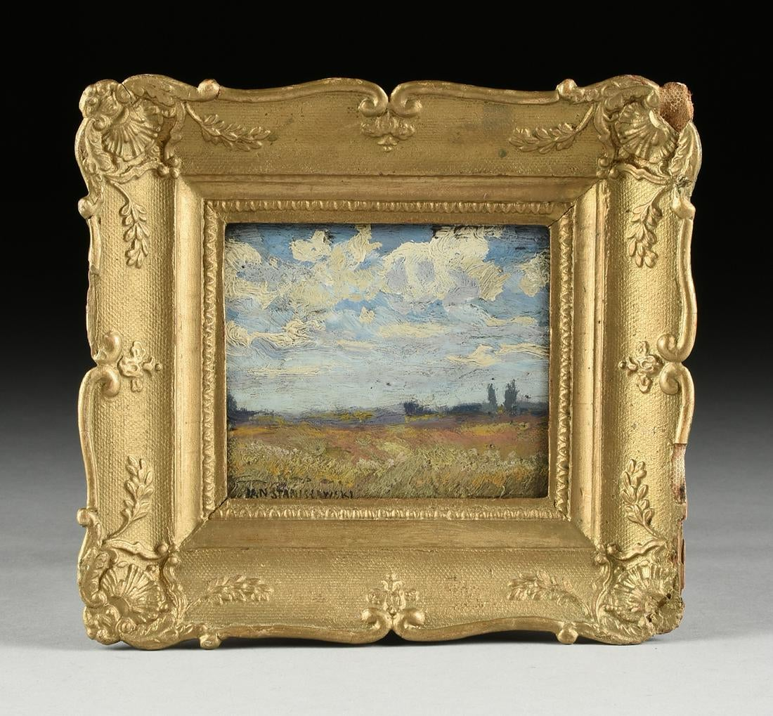 """Jan Stanisławski (1860-1907) """"Pejzaż z chmurami"""", źródło: Simpson Galleries"""