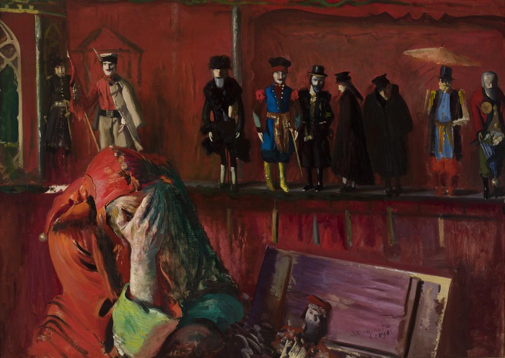 """Leon Wyczółkowski (1852-1936) """"Stańczyk"""", 1898 rok, źródło: Muzeum Narodowe w Krakowie"""