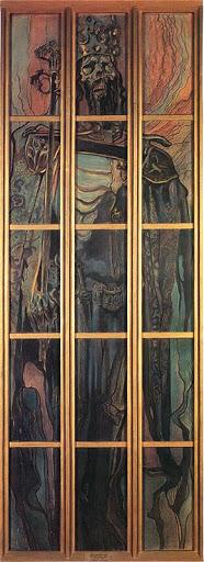 """Stanisław Wyspiański (1869-1907) """"Kazimierz Wielki"""", karton witrażowy do katedry wawelskiej, lata 1900-1902, źródło: Muzeum Narodowe w Krakowie"""