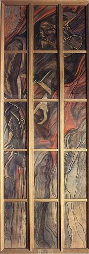 """Stanisław Wyspiański (1869-1907) """"Henryk Pobożny"""", karton witrażowy do katedry wawelskiej, lata 1900-1902, źródło: Muzeum Narodowe w Krakowie"""
