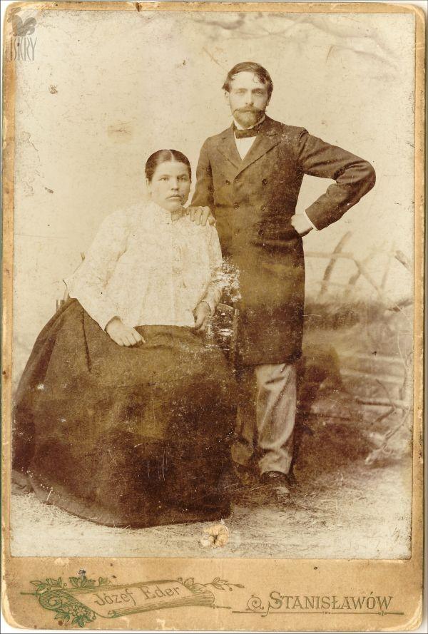 Stanisław Wyspiański z żoną, ok. 1901 roku, źródło: iskry.com.pl
