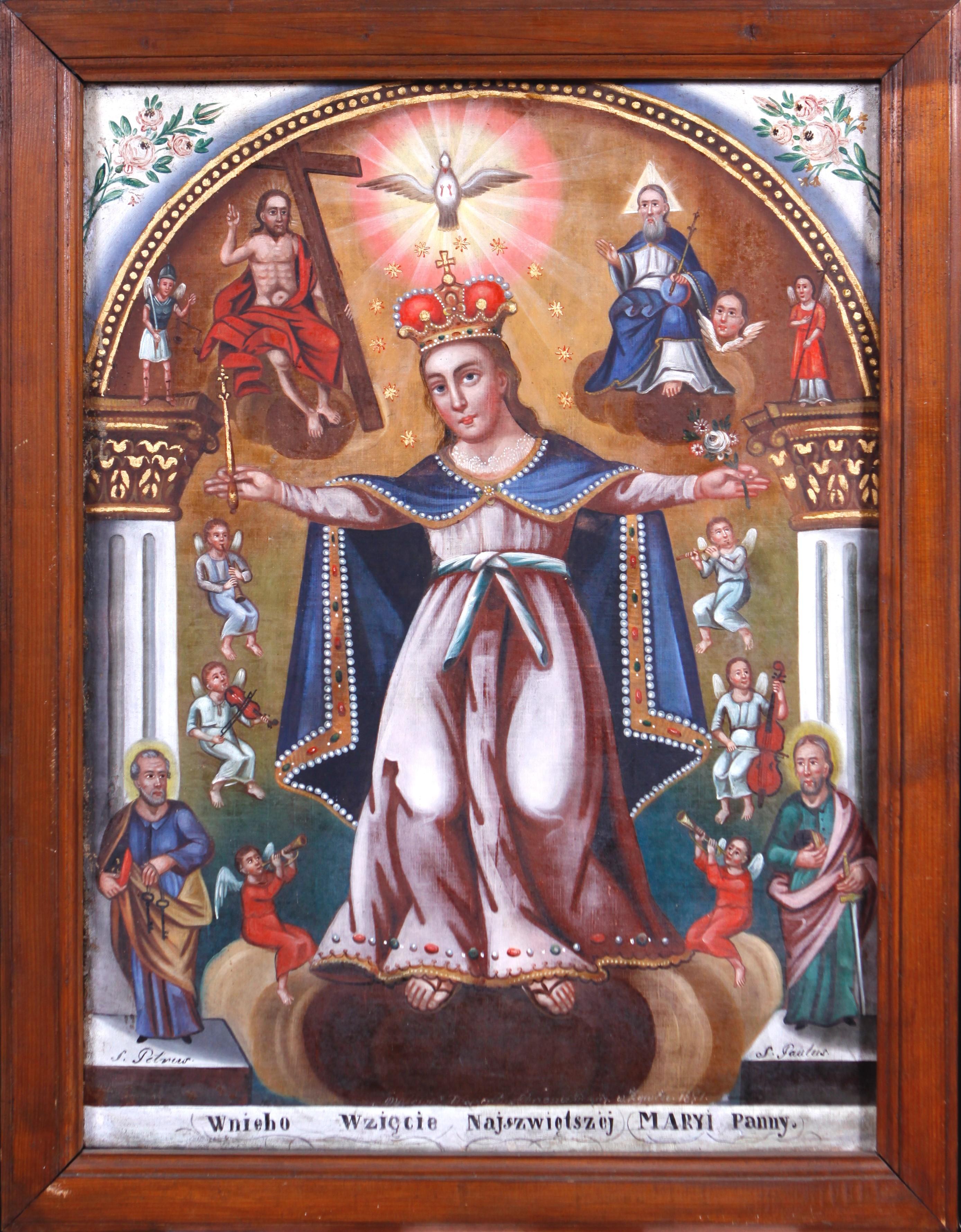 """Wincenty Chrząstkiewicz (1821-1889) """"Wniebowzięcie Najświętszej Maryi Panny"""", 1877 lub 1871 rok, źródło: archiwum autora"""