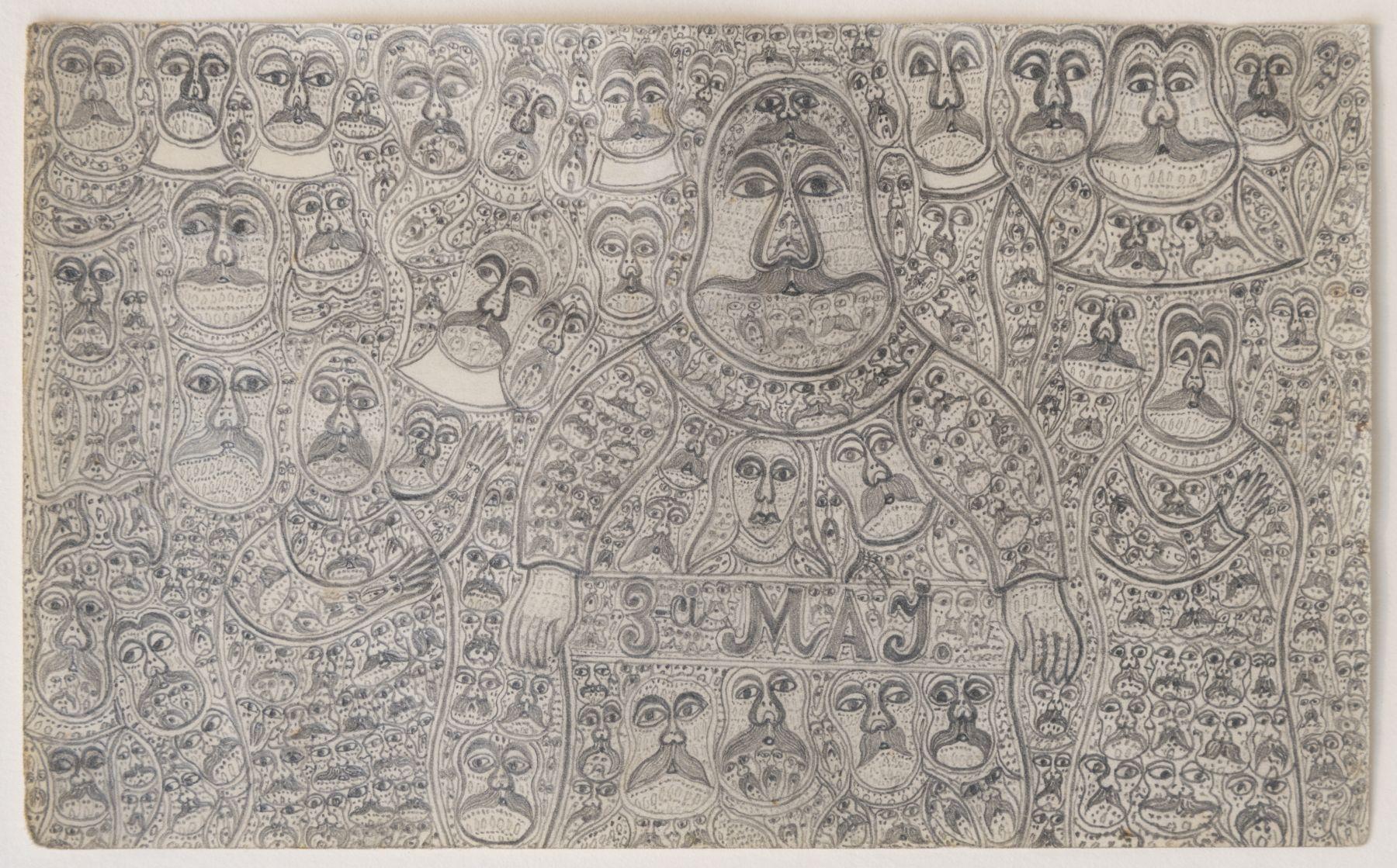 "Edmund Monsiel (1897-1962) ""3 maj"", źródło: własność prywatna (outsiderartfair.com)"