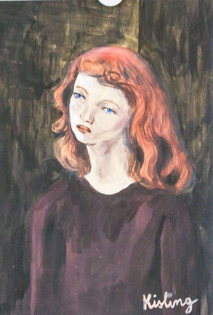 """Mojżesz Kisling (1891-1953) """"Rudowłosa"""", źródło: 888 Auctions"""
