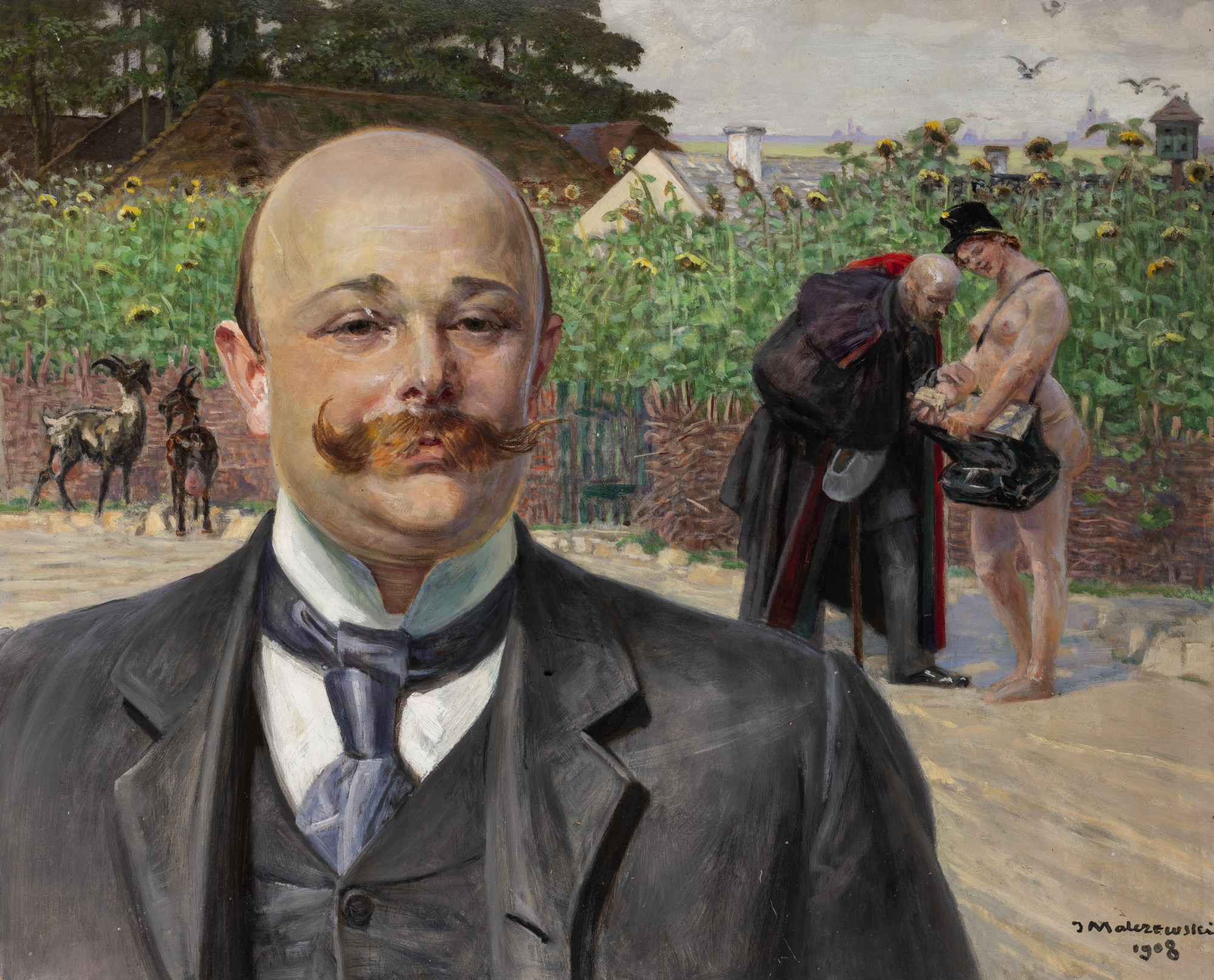 "Jacek Malczewski (1854-1929) ""Listonoszka"", źródło: Sotheby's"