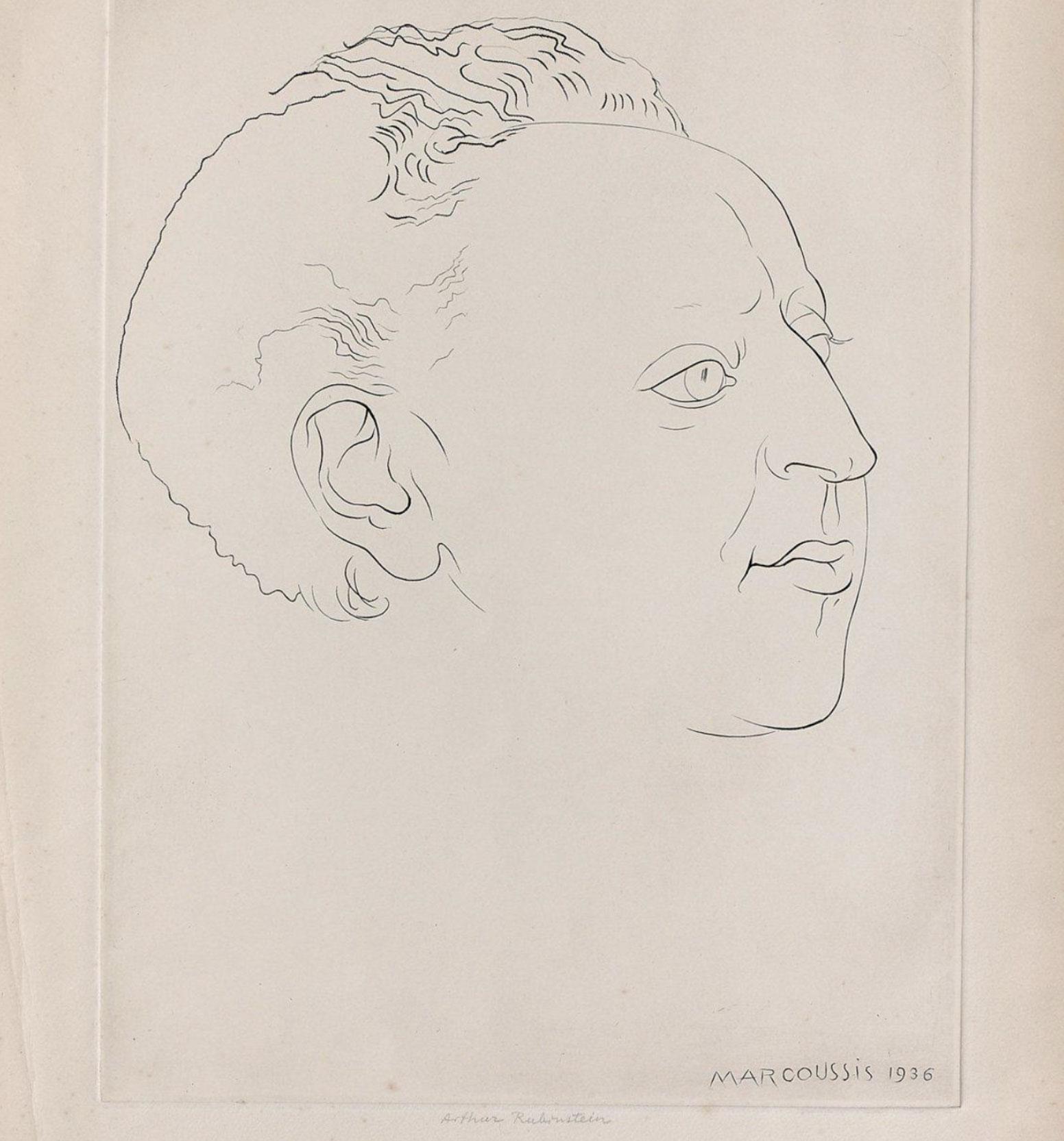 "Louis Marcoussis (1883-1941) ""Portret Artura Rubinsteina"", źródło: Societe Thierry de Maigret"