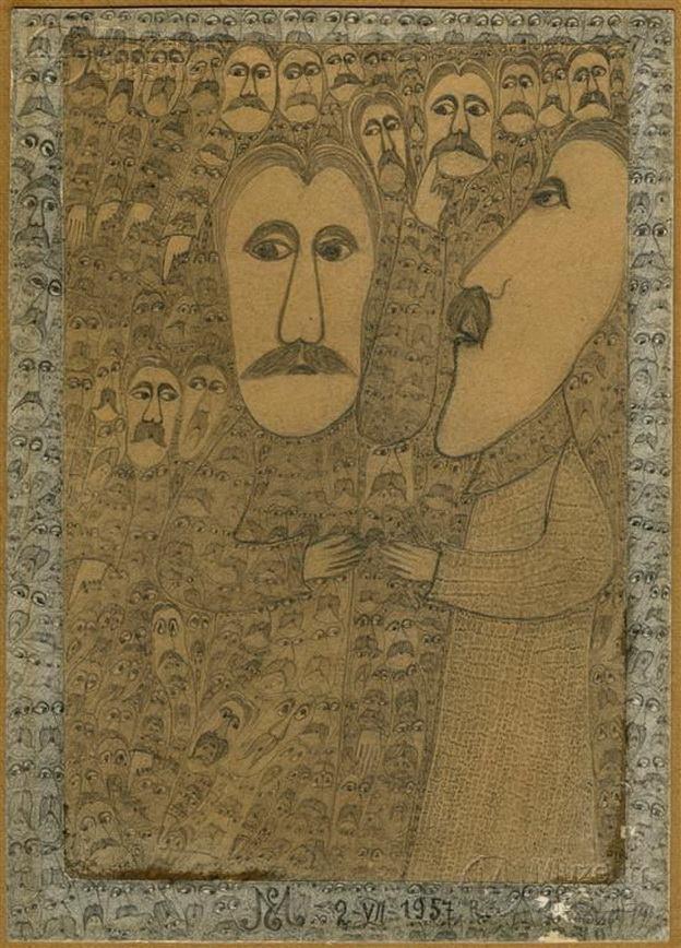 """Edmund Monsiel (1897-1962) """"Bez tytułu"""", 1957 rok, źródło: Muzeum Śląskie w Katowicach"""