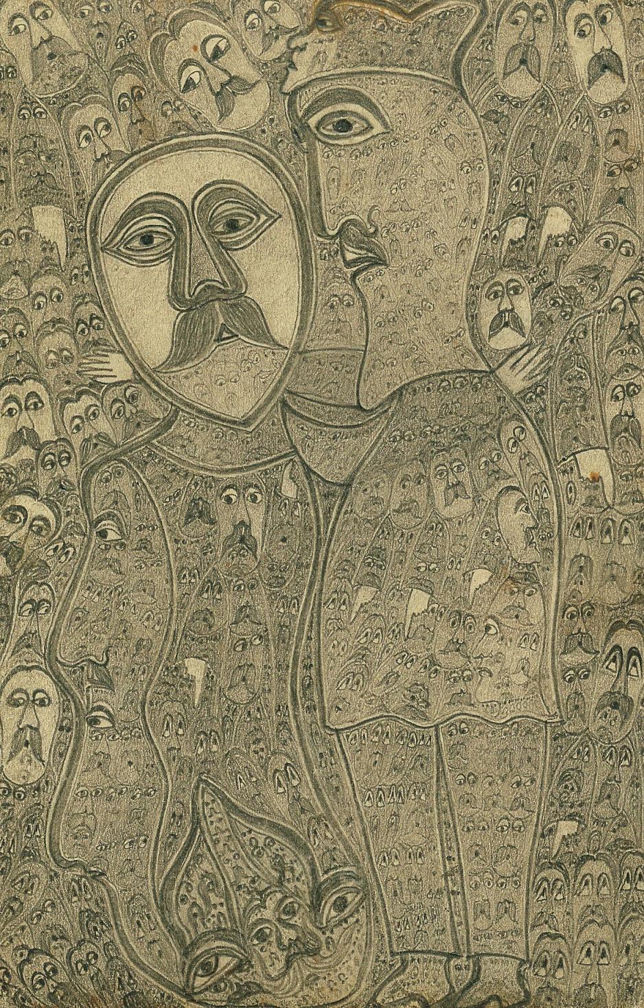 """Edmund Monsiel (1897-1962) """"Posłannictwo"""", 1955 rok, źródło: Muzeum Miejskie w Zabrzu"""
