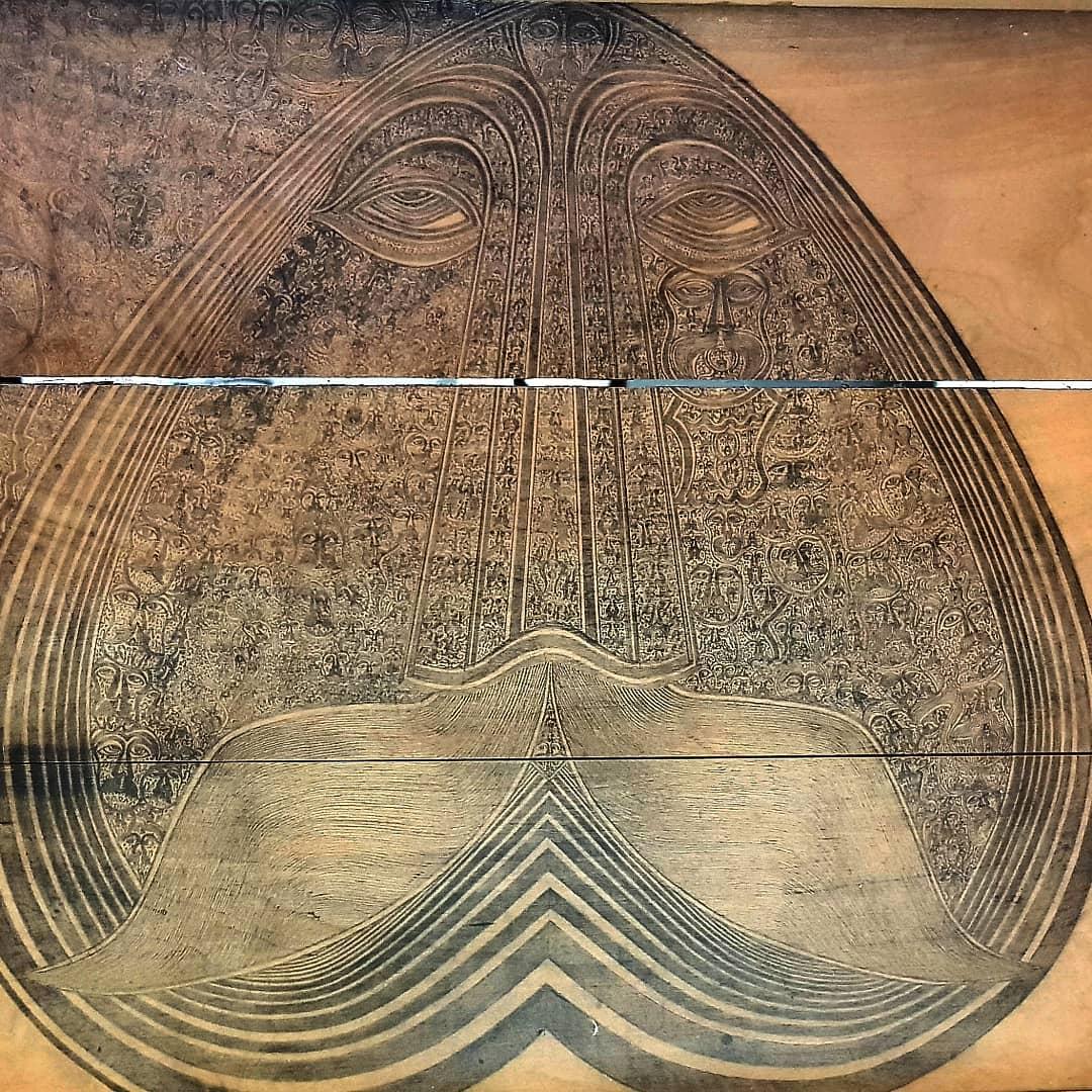 Wnętrze wieka skrzyni ozdobione przez Monsiela, w kórej znaleziono po jego śmierci 566 rysunków, źródło: archiwum rodziny