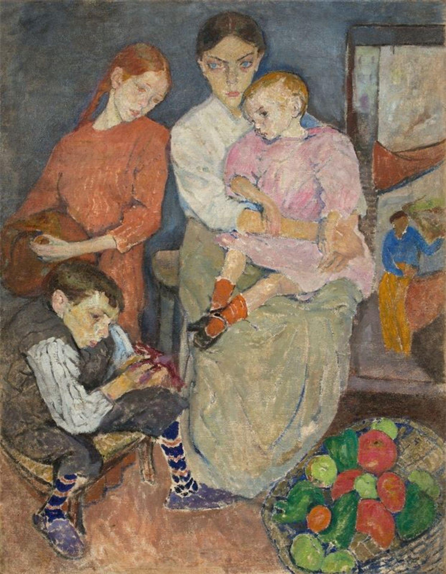 """Mela Muter (1876-1967) """"Macierzyństwo"""", źródło: Grisebach"""