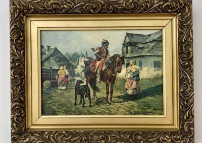 """Władysław Szerner (1836-1915) """"Na gawędce"""", źródło: Black River Auction"""