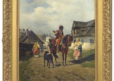 """Władysław Szerner (1836-1915) """"Na gawędce"""", źródło: Agra-Art"""