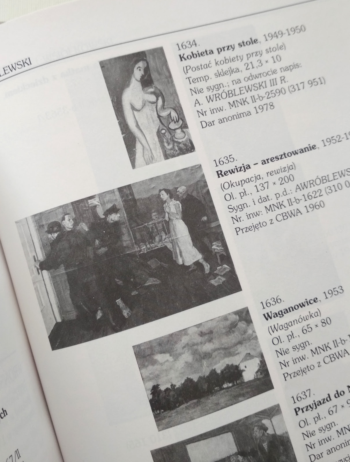 Katalog prac Andrzeja Wróblewskiego znajdujących się w Muzeum Narodowym w Krakowie