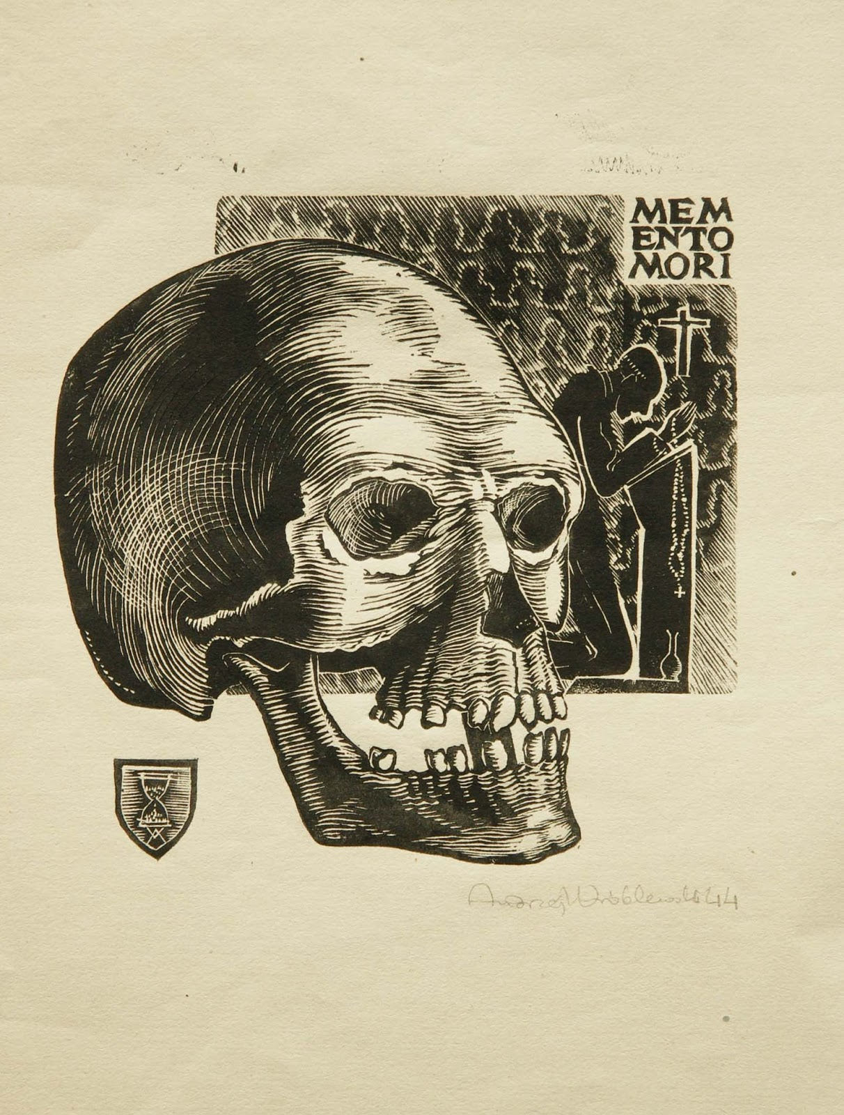 "Andrzej Wróblewski (1927 - 1957) ""Memento mori"", 1944 rok, źródło: artbazaar.blogspot.com"