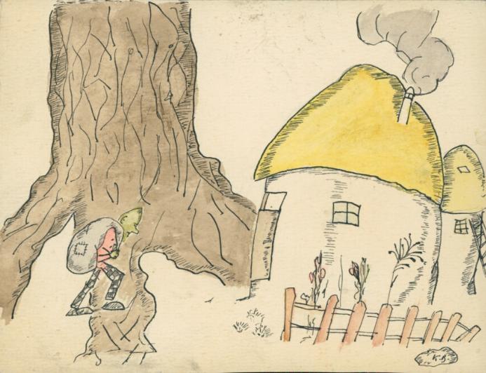 Krzysztof Kamil Baczyński (1921-1944), ilustracja do bajki, źródło: Biblioteka Narodowa
