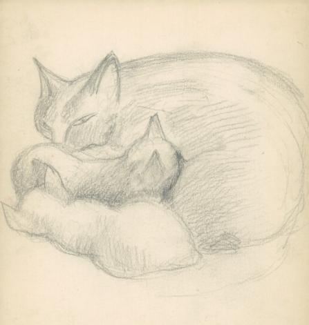 """Krzysztof Kamil Baczyński (1921-1944) """"Koty"""", źródło: Biblioteka Narodowa"""