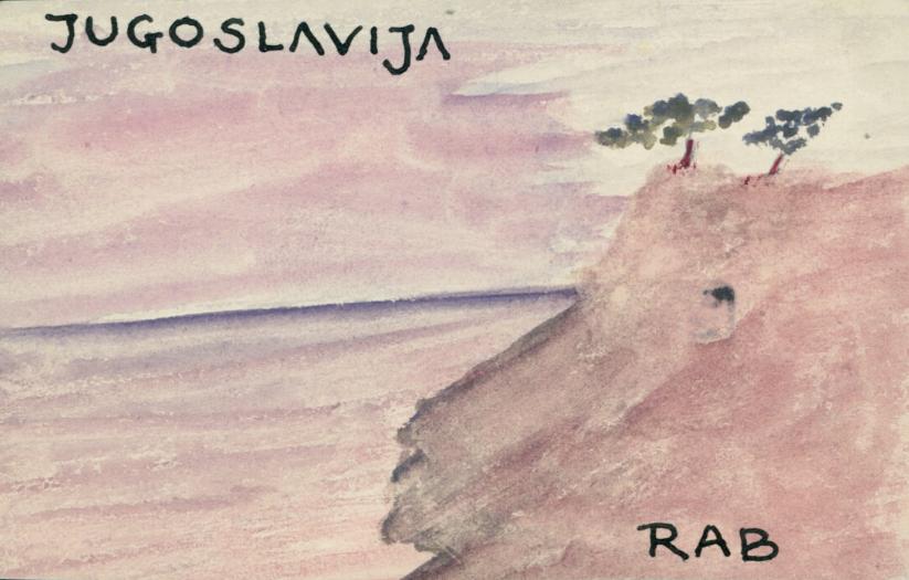 """Krzysztof Kamil Baczyński (1921-1944) """"Pocztówka z Jugosławii"""", źródło: Biblioteka Narodowa"""