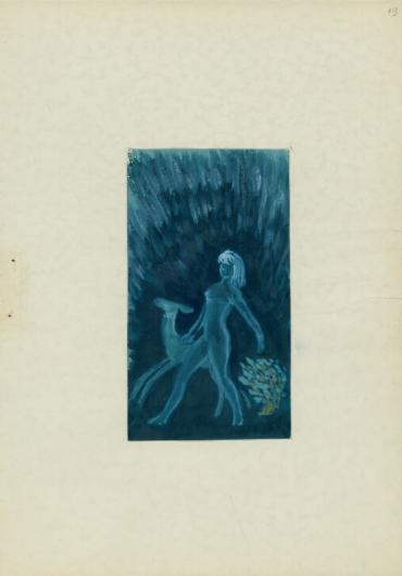 """Krzysztof Kamil Baczyński (1921-1944), ilustracja z poematu """"Serce jak obłok"""", źródło: Biblioteka Narodowa"""
