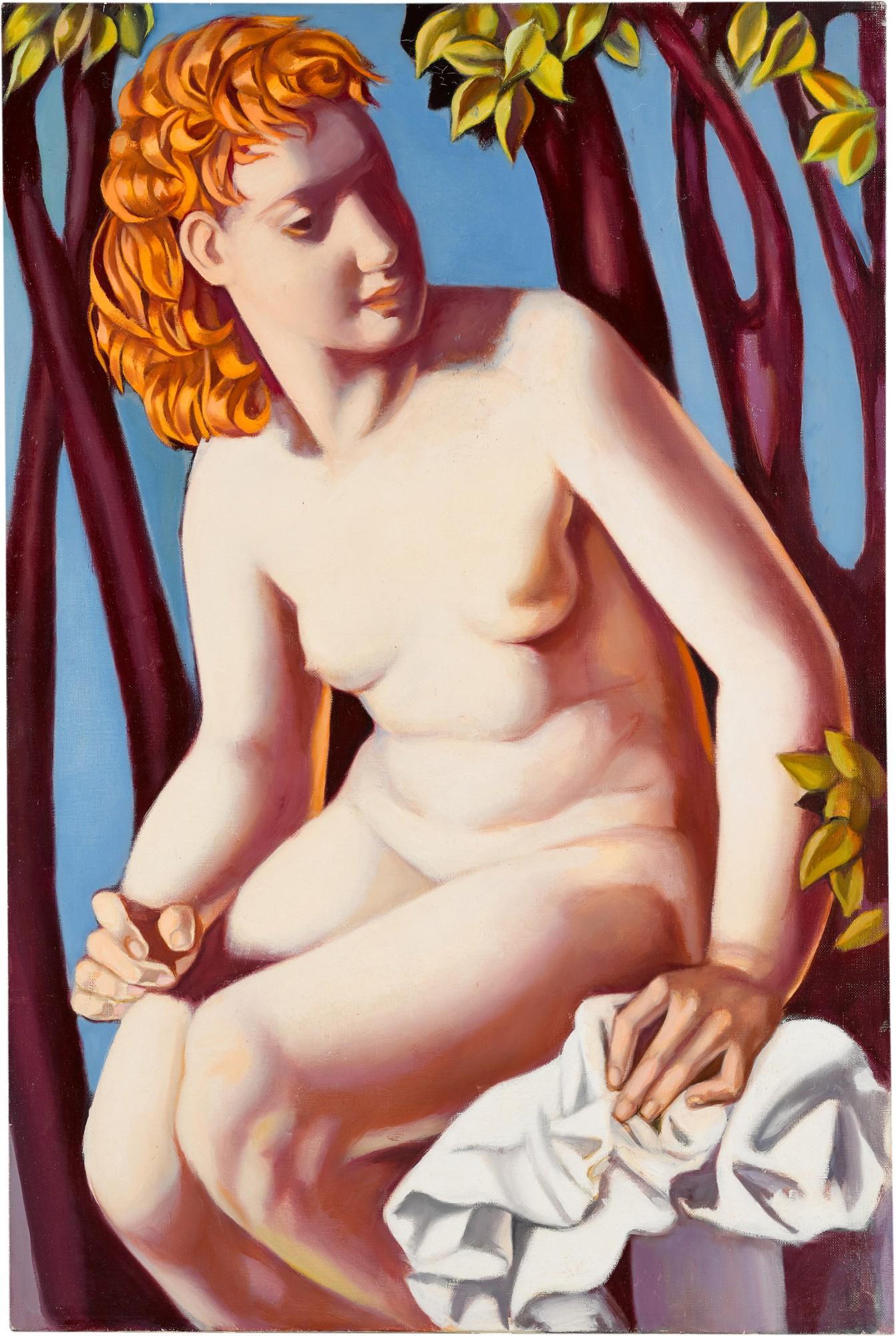 """Tamara Łempicka (1898-1980) """"Zuzanna w kąpieli"""", źródło: Sotheby's"""