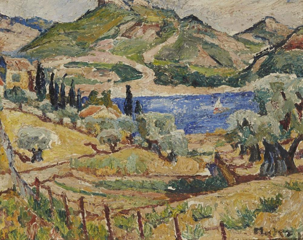 "Mela Muter (1876-1967) ""Letni pejzaż z Prowansji"", źródło: Roseberys"