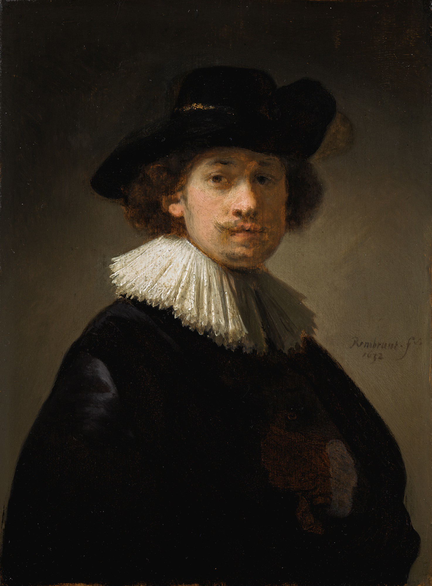"Rembrandt Van Rijn (1606-1669) ""Autoportret w czarnym kapeluszu"", źródło: Sotheby's"