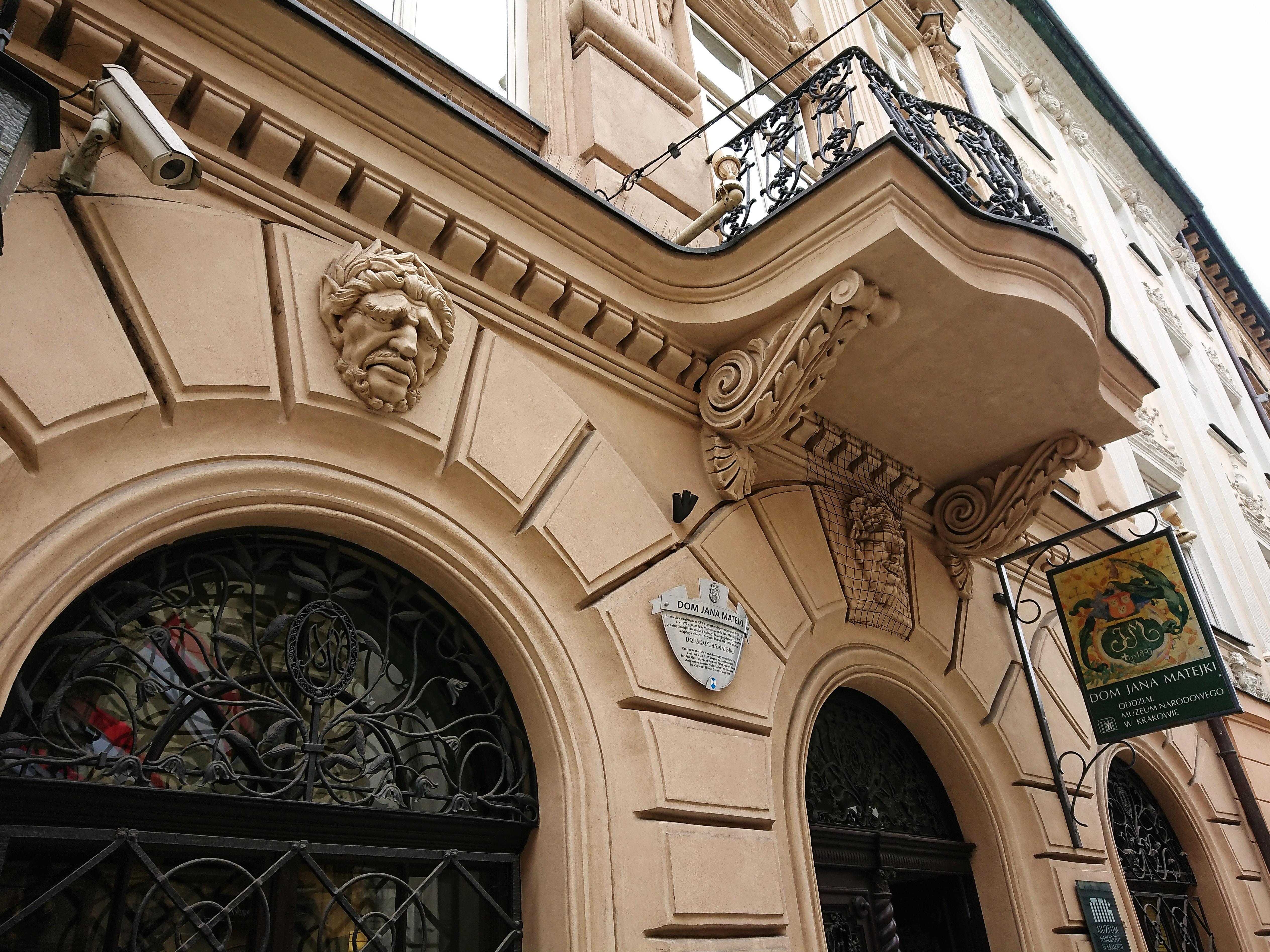 Fragment fasady Domu Jana Matejki przy ulicy Floriańskiej, źródło: archiwum autorki