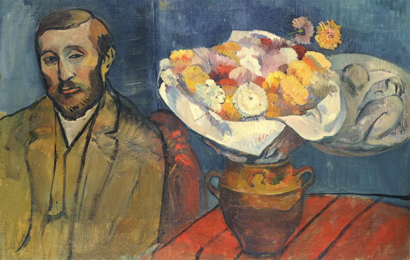 """Paul Gauguin (1848-1903) """"Portret Władysława Ślewińskiego"""", 1890 rok, źródło: Narodowe Muzeum Sztuki Zachodniej w Tokio"""