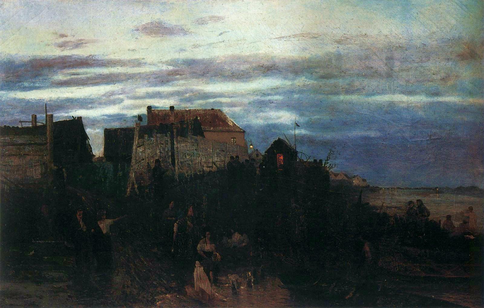 """Maksymilian Gierymski (1846-1874) """"Modlitwa Żydów w dzień sabatu"""", 1871 rok, źródło: Oblasti Galerie, Liberec"""