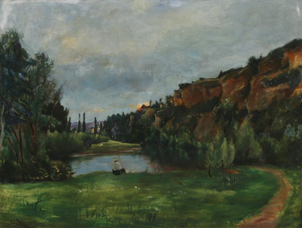 "Henryk Hayden (1883 - 1970) ""Nad jeziorem"", źródło: Tiroche Auction House"