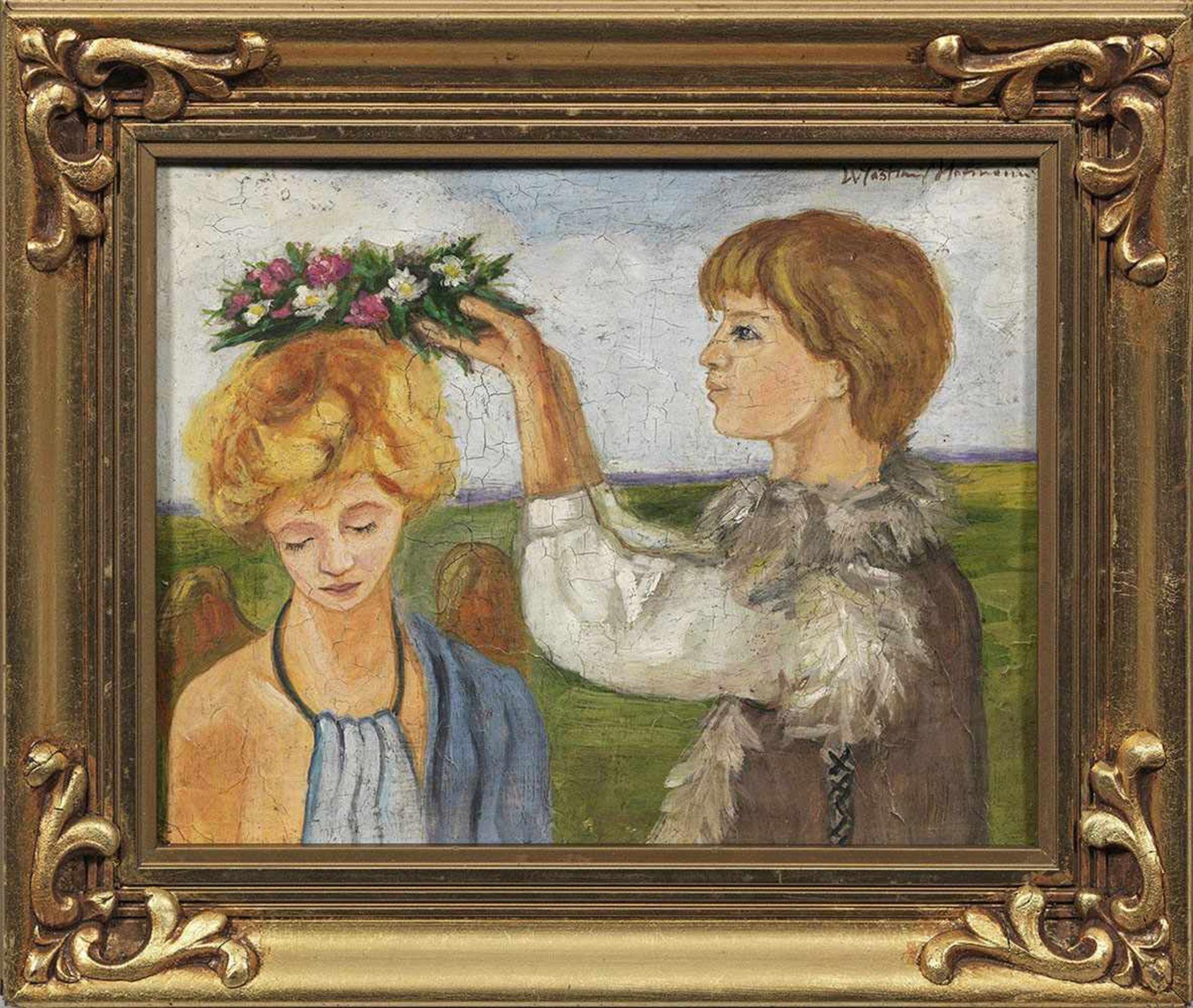 """Wlastimil Hofman (1881-1970) """"Dwie dziewczynki"""", źródło: Schloss Ahlden"""