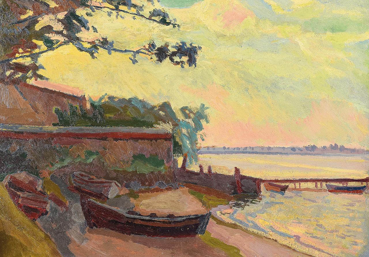 """Stanisław Kamocki (1875-1944) """"Zatoka Pucka"""", źródło: Rempex"""