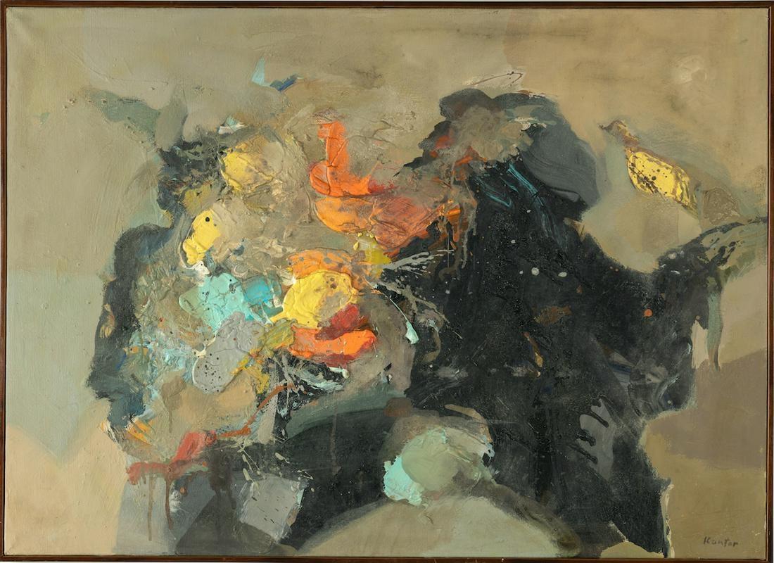 """Tadeusz Kantor (1915-1990) """"Kompozycja (Informel)"""", źródło: Art Torg"""