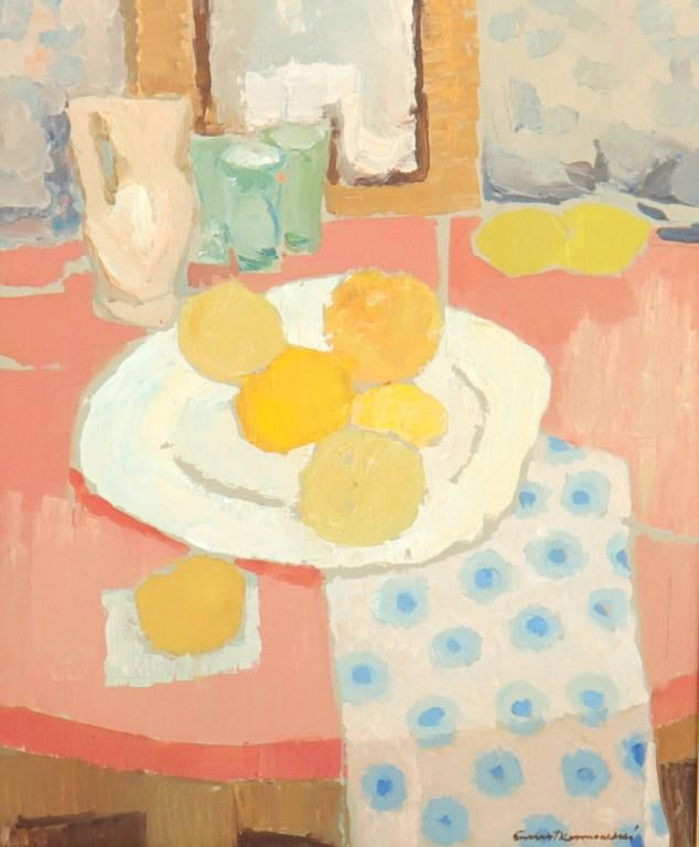 "Ernest Kosmowski (1900-1985) ""Martwa natura z cytrusami"", źródło: Auctions at Showplace"
