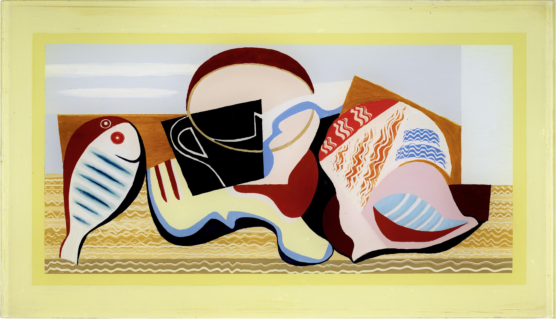 "Louis Marcoussis (1883-1941) ""Martwa natura z rybą"", źródło: Galerie Kornfeld"