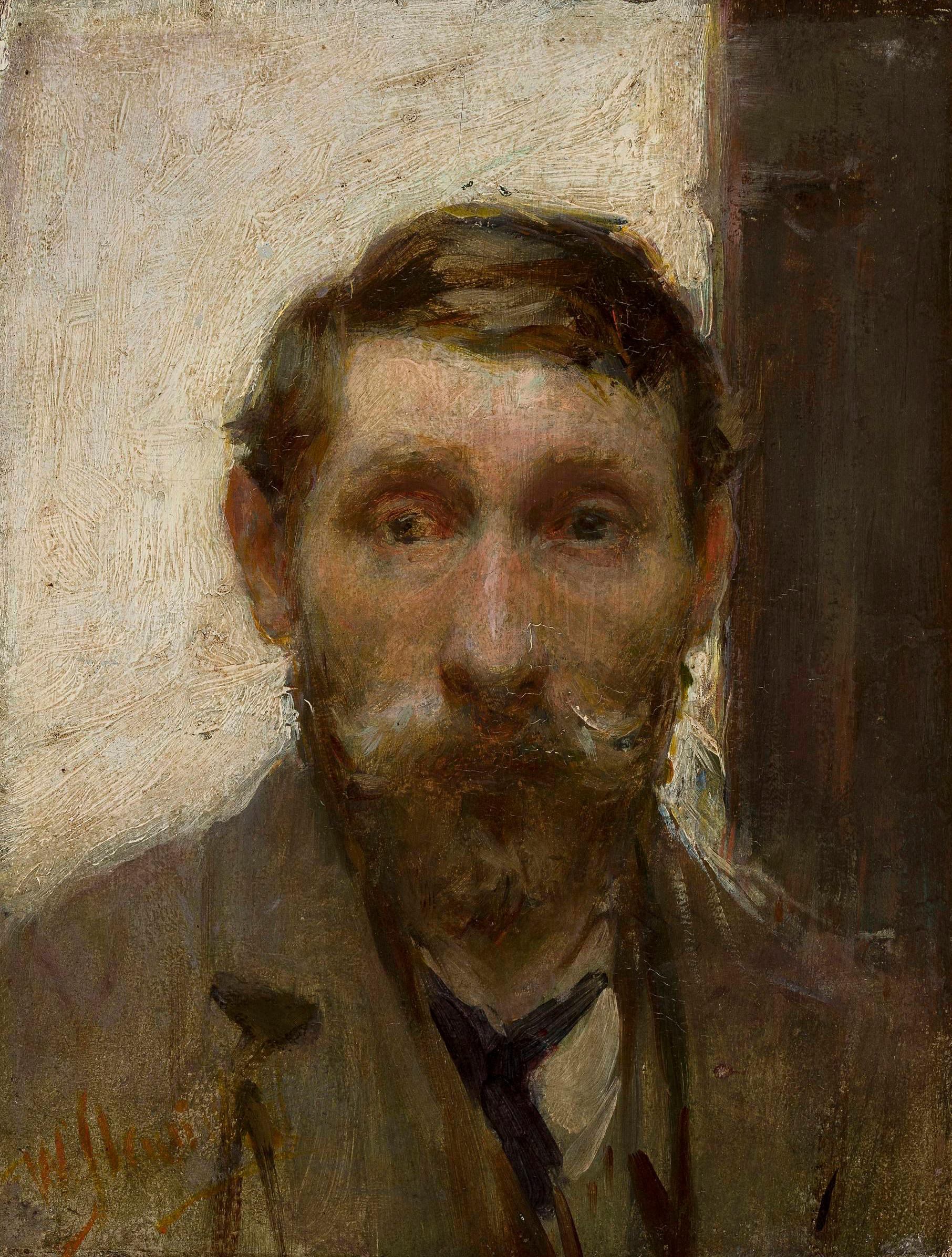 """Władysław Ślewiński (1854 - 1918) """"Autoportret"""", ok. 1898 roku, źródło: Muzeum Narodowe w Warszawie"""