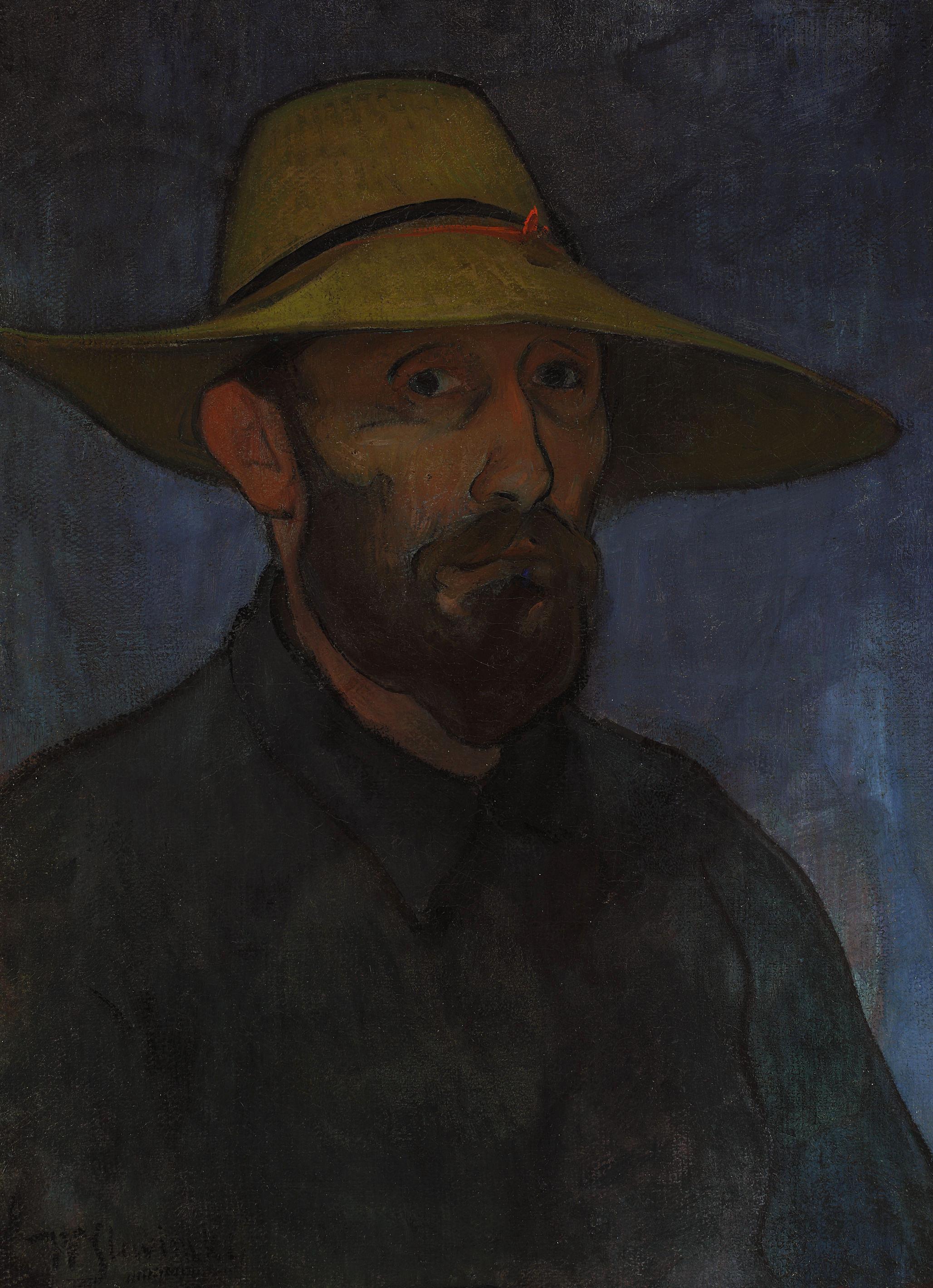 """Władysław Ślewiński (1854 - 1918) """"Autoportret w słomkowym kapeluszu"""", ok. 1894 roku, źródło: Muzeum Narodowe w Warszawie"""