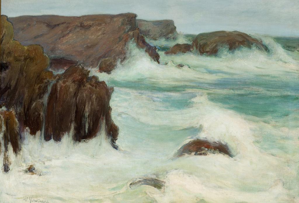 """Władysław Ślewiński (1854 - 1918) """"Morze w Bretanii"""", 1904 rok, źródło: Muzeum Narodowe w Krakowie"""