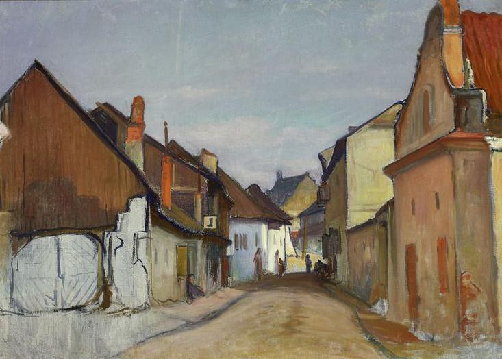 """Władysław Ślewiński (1854 - 1918) """"Ulica Lubelska w Kazimierzu"""", między 1907 a 1909 rokiem, źródło: Muzeum Narodowe w Warszawie"""