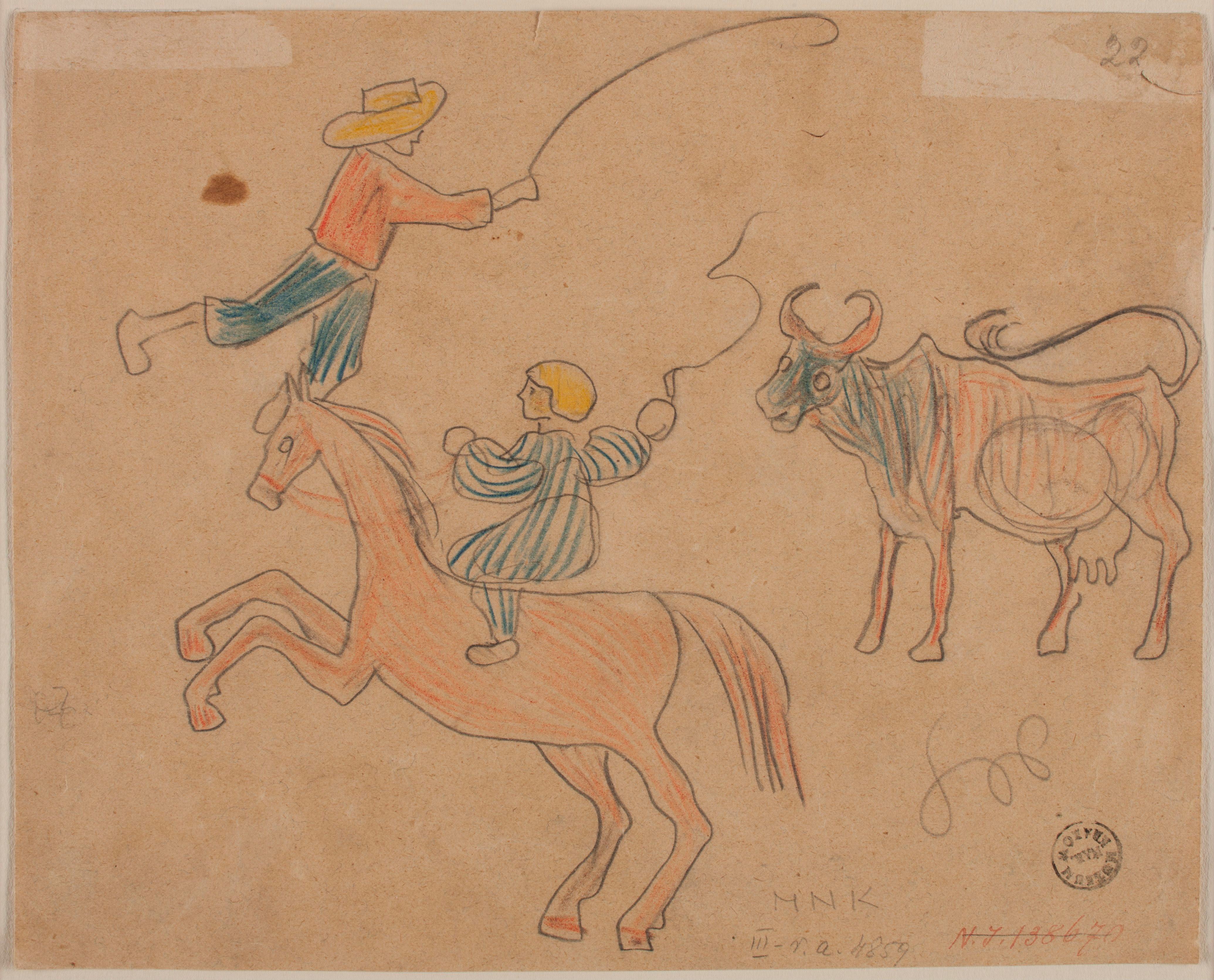 Szkice dla dzieci autorstwa Stanisława Wyspiańskiego. Może tek rysował również jako dziecko?, źródło: Muzeum Narodowe w Krakowie