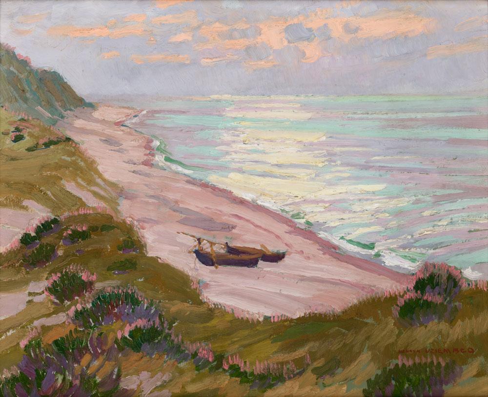 """Henryk Uziembło (1879-1949) """"Brzeg morza"""", 1925 rok, źródło: Muzeum Narodowe w Krakowie"""