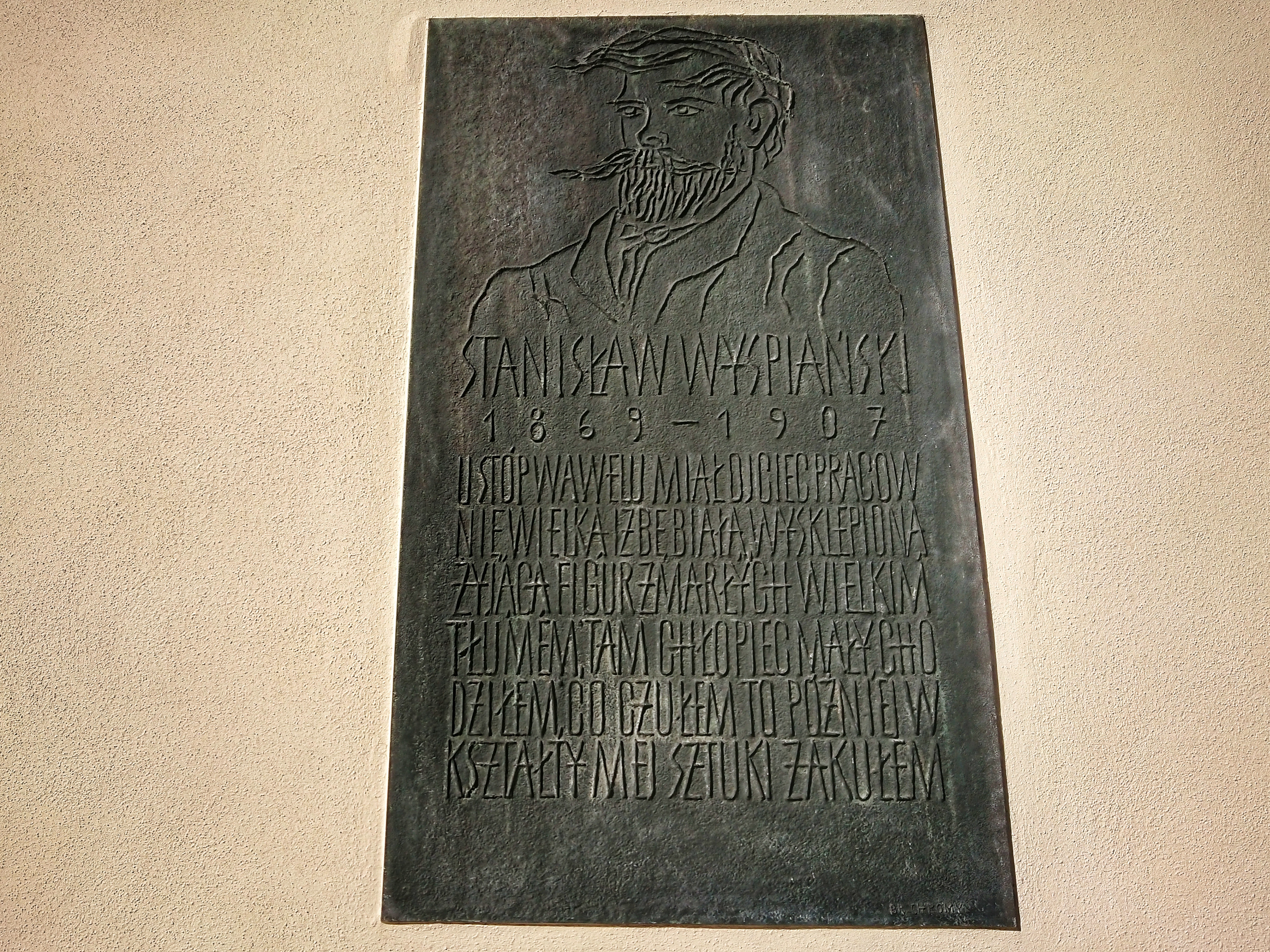 Tablica pamiątkowa na ścianie Domu Długosza, źródło: archiwum autorki