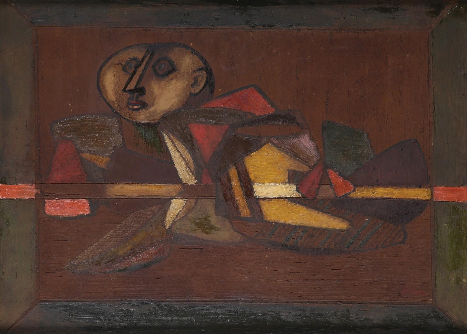 """Jankiel Adler (1895-1949) """"Figura abstrakcyjna"""", źródło: Tiroche Auction House"""