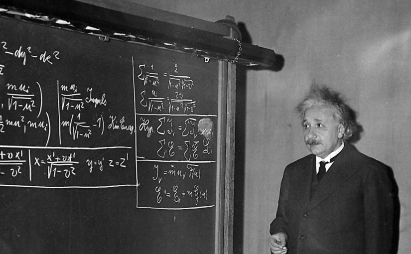 Fotografia przedstawiająca Alberta Einsteina, źródło: pigeonroost.net
