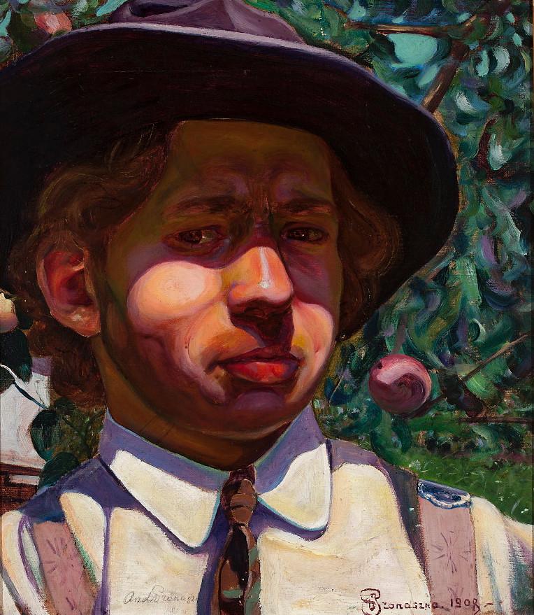 Autoportret Andrzeja Pronaszki z 1908 roku, źródło: Muzeum Narodowe w Warszawie