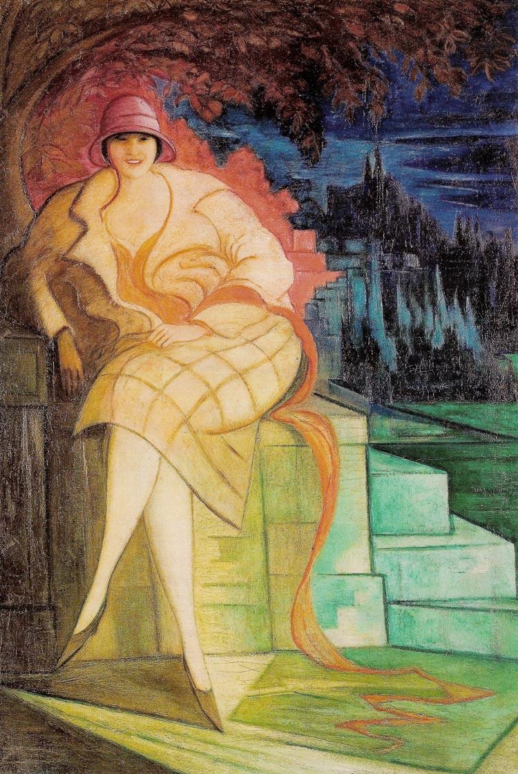 """Leon Chwistek  (1884–1944) """"Portret żony"""", 1925 rok, źródło: Muzeum Narodowe w Krakowie"""